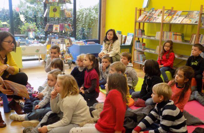 Trévou-Tréguignec : atelier lecture à voix haute à la bibliothèque pour les enfants des écoles