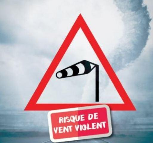 Info préfecture: vents violents de 11h à 16h ce jeudi 5 mars