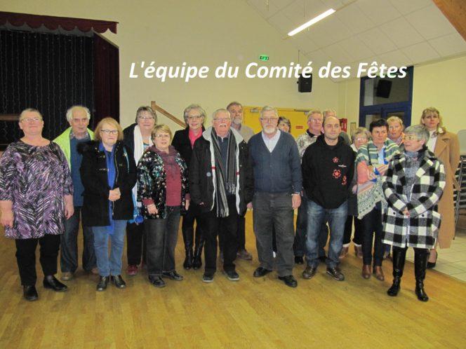 Trévou-Tréguignec  Assemblée Générale du Comité des Fêtes du samedi 24 février .. le nouveau bureau..