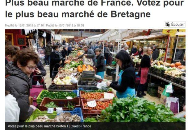 Trévou-Tréguignec  et si vous votiez pour le plus beau marché de Bretagne?