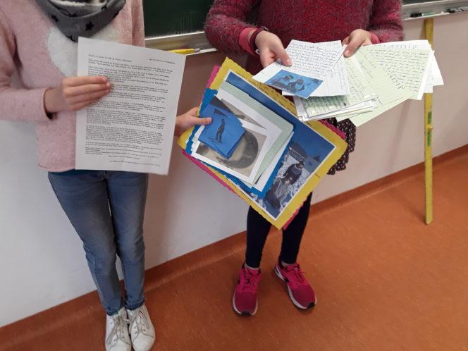 Trévou-Tréguignec  les enfants de CM2 du RPI de Trévou ont reçu les réponses des enfants de CM2 de Lans en Vercors
