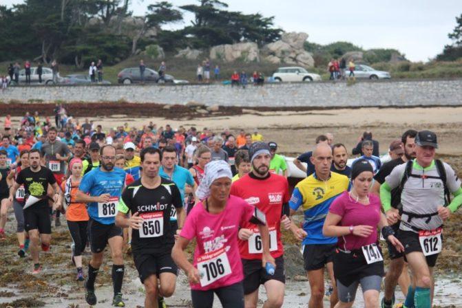 trail de l'estran : 19 septembre ; 2 courses cette année ; les arrivées se feront sur la plage de Trestel