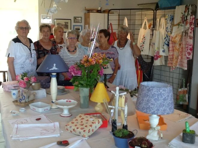 Comme chaque année l'expo-vente de l'atelier de Créativité de l'amicale des Joyeux Retraités a emporté un franc succès à Trestel