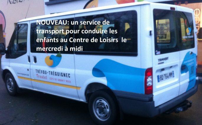 Une navette pour conduire les enfants de Trévou-Trélévern vers le Centre de Loisirs le mercredi midi à la rentrée; il reste quelques places..