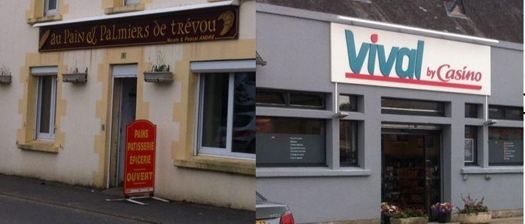 Trévou-Tréguignec  Le Vival, la boulangerie, horaires d'ouverture de l'été