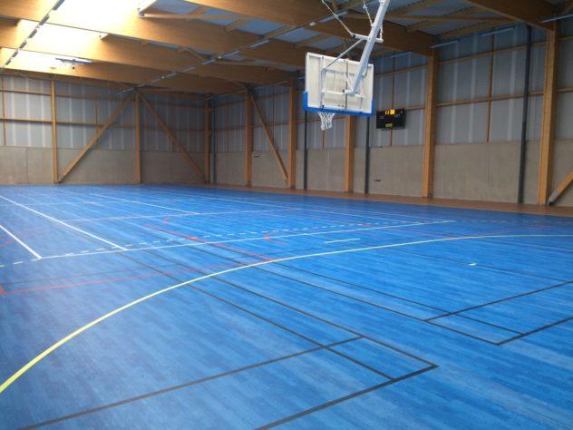 Trévou-Tréguignec  salle de sports: les travaux se terminent..  la salle sera utilisable le 25 septembre