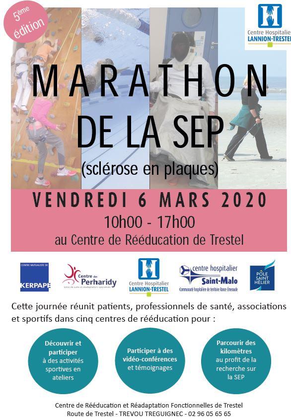 Pour prendre date: le 5ème marathon de la SEP ce sera le 6 mars au CRRF de Trestel en Trévou-Tréguignec et c'est pour tous… Le Programme est disponible ici