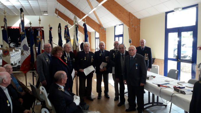 l'UFAC (Union Fédérale des Anciens combattants) a  rassemblé les Anciens Combattants de l'Arrondissement de Lannion à Trévou ce samedi