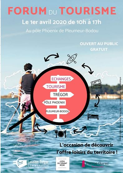 Forum reporté. Les hébergeurs trévousiens  sont invités à participer au Forum du Tourisme au Pôle Phoenix à Pleumeur-Bodou le mercredi 1er  avril  entre 10h et 17h. Mise à disposition gratuitement des guides  (Loisirs, saveurs, hébergements) et nombreux autres documents touristiques                     (Trévou)