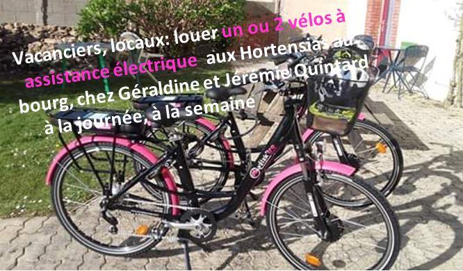 Des vélos à assistance électrique en location à la journée ou à la semaine à Trévou chez Géraldine et Jérémie Quintard aux Hortensias au bourg