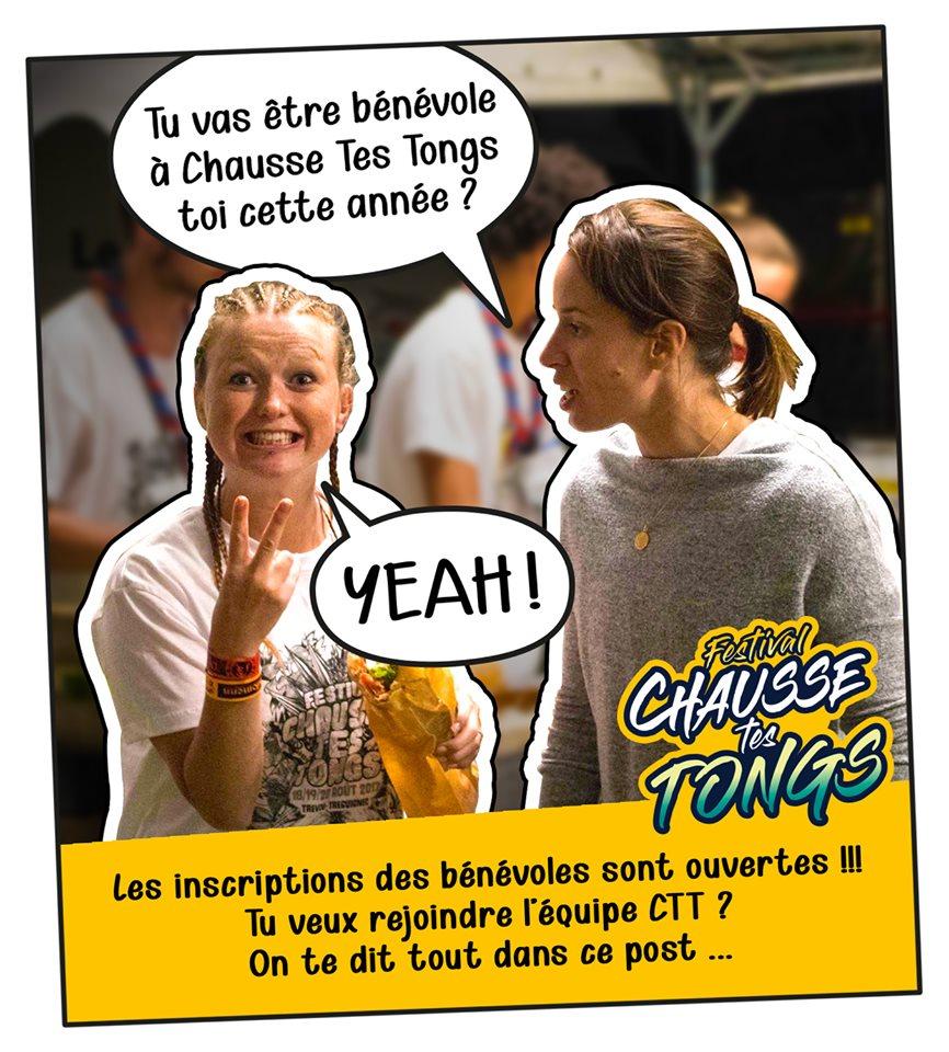 Festival Chausse Tes Tongs : 9-10-11 août 2019, appel à bénévoles, RV à l'Élektron au Royau ce samedi 20 juillet à 11h                    Trévou