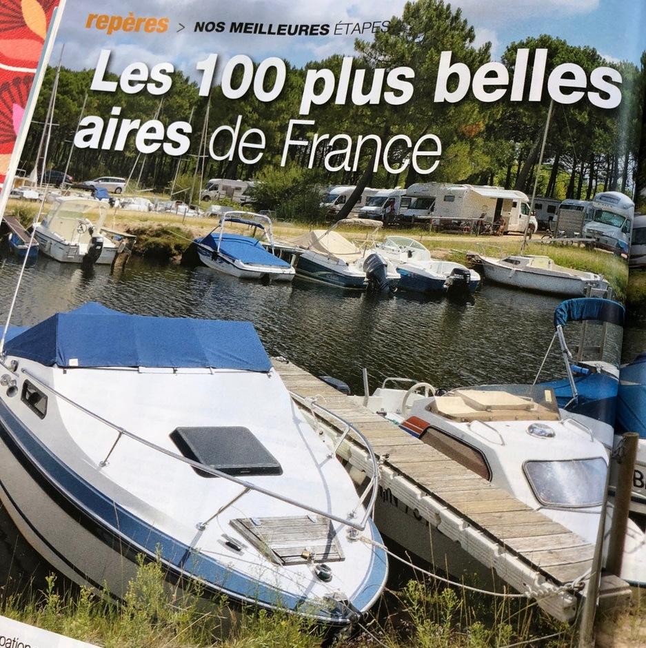 Partage d'un ancien article : 2019 : l'aire de camping-cars de Trestel en Trévou-Tréguignec classée parmi les 100 plus belles aires de France sur plus de 9000 aires répertoriées en France