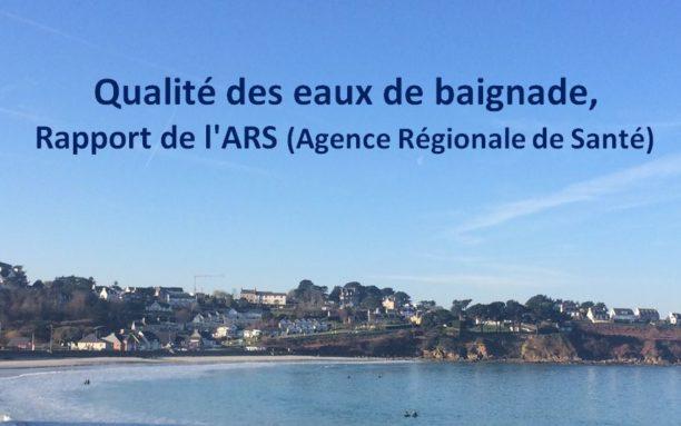 qualité des eaux de baignade rapport des analyses de l'année 2020:  Trestel et le Royau  et infos sur pêche à pieds                    Trévou-Tréguignec