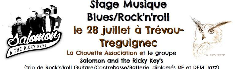 Le stage de Blues et de Rock'n'roll du dimanche 28 juillet à l'Élektron au Royau  a rassemblé des apprentis très motivés                                   Trévou
