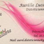 Aurélie Lucas  : consultations de diététicienne. Pensez à prendre RV