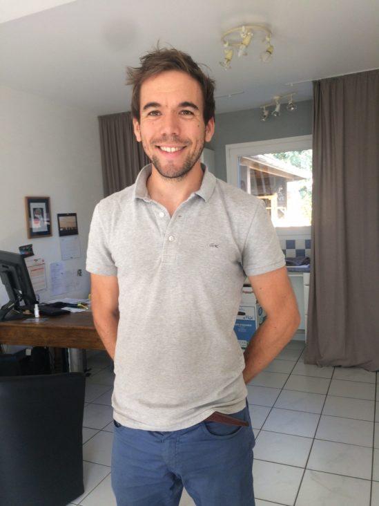 Loïc Dupas, kinésithérapeute, prend possession de ses locaux neufs derrière le Vival où il exercera dès le 8 septembre avec une collaboratrice   Trévou