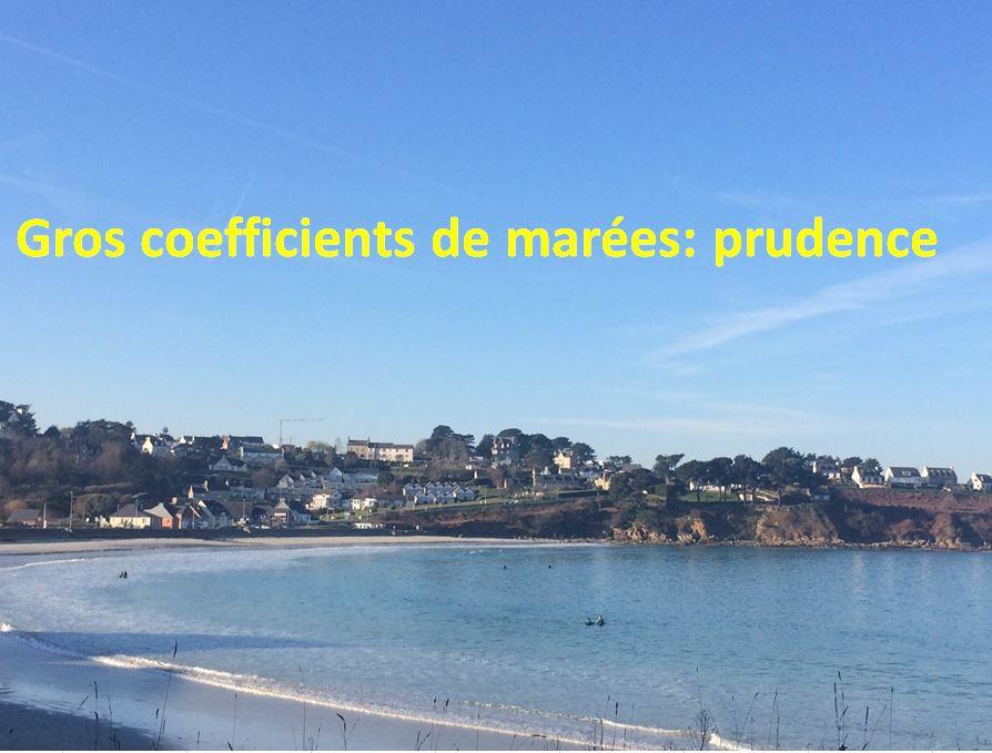 Grandes marées en vue jusqu'à 113 dimanche.. conseils de la Préfecture: prudence          Trévou