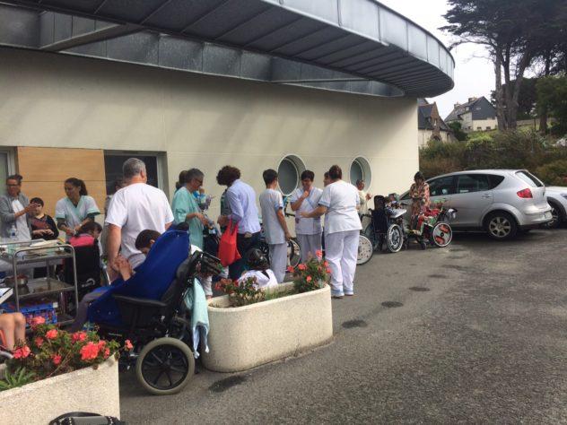 La Maison de l'Estran du CRRF de Trestel en Trévou a organisé un pique-nique de rentrée