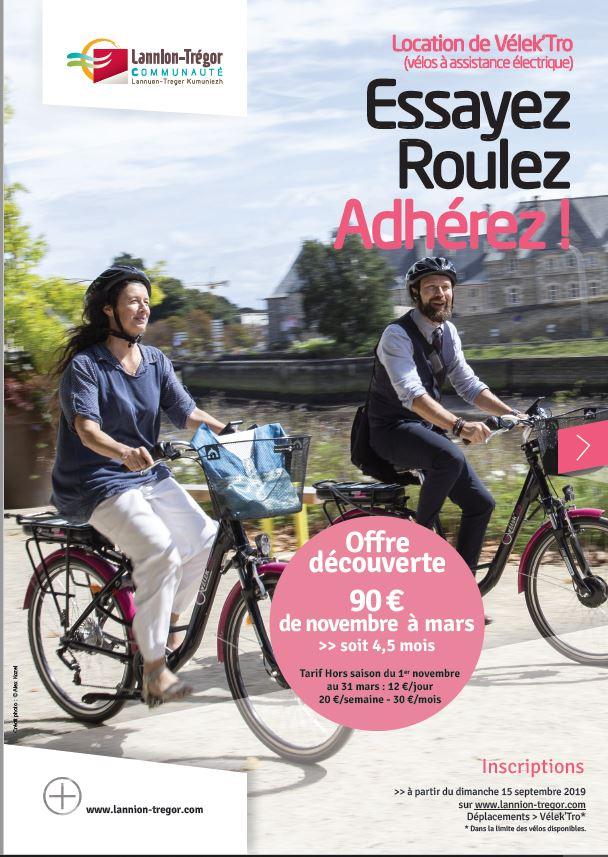 Le Service Transports de LTC propose la location d'un Vélo à Assistance Électrique  pour 4 mois et 1/2  à 90€, pour tous les habitants …  Il reste quelques vélos, C'est aussi l'occasion de les tester avant d'acheter….  Trévou
