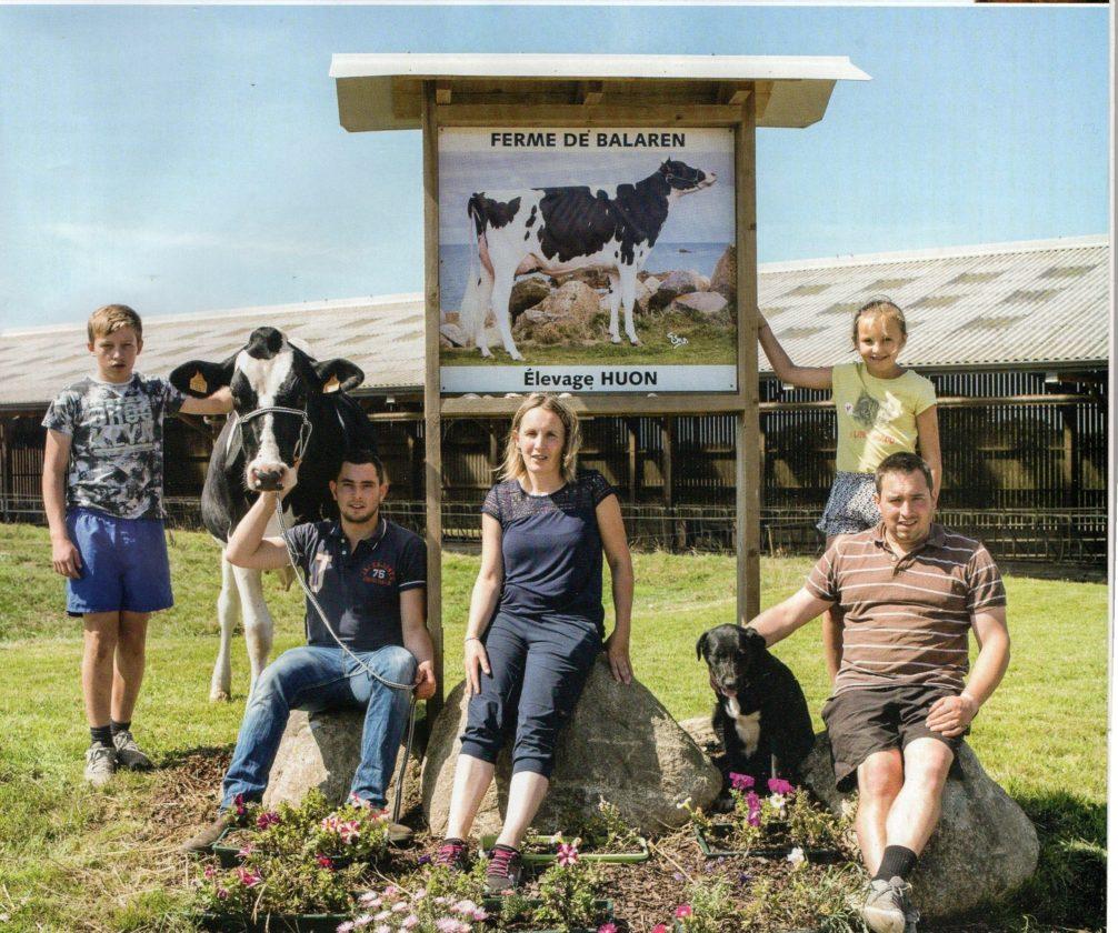 Jean-Christophe Huon : Quand  une famille d'éleveurs laitiers de Trévou fait la UNE d'un magazine  spécial SPACE,
