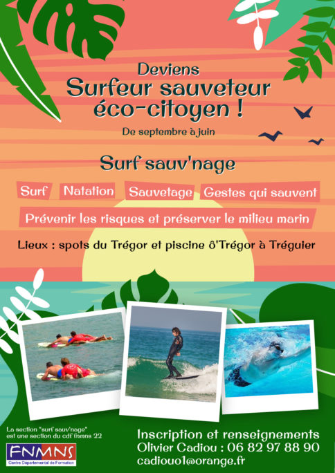 la section Surf Sauv'Nage lance ses activités piscine, surf, GQS (gestes qui sauvent) avec Olivier Cadiou Trévou