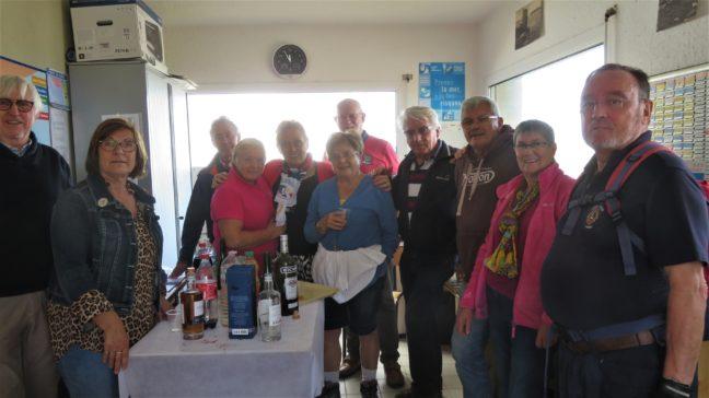 La Rando Gourmande  a rassemblé 150 randonneurs qui ont fait des haltes gourmandes à Trévou:  à la maison des Plaisanciers de PLG, au CRRF, à la salle polyvalente, à la médiathèque