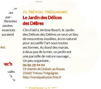 L'événement «Scènes d'Automne au Jardin» vous attend au Jardin des Délices des Délires au Royau  à Trévou les 19-20 et 21 octobre