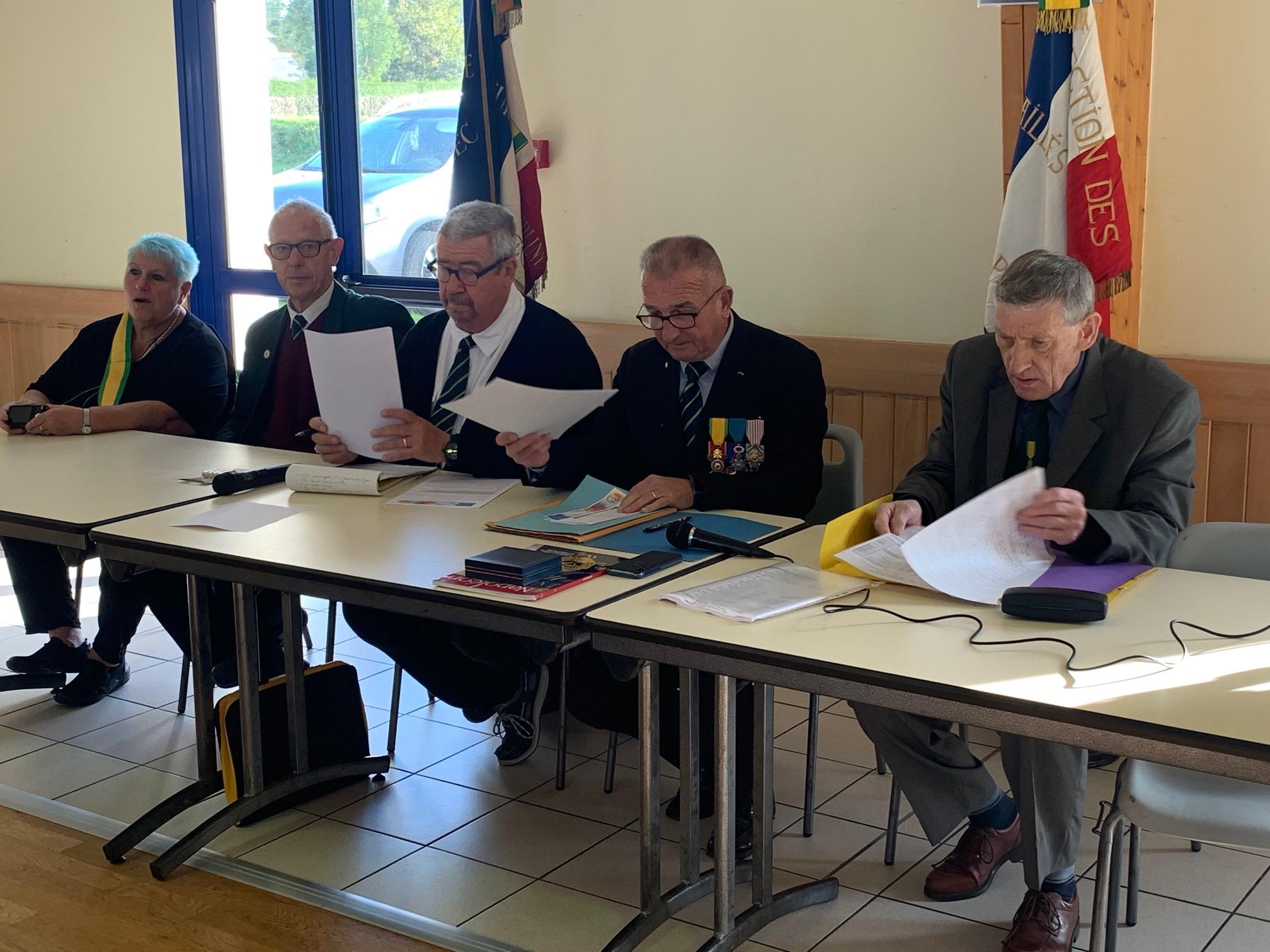 Les Médaillés militaires du canton se sont retrouvés à la salle polyvalente de Trévou