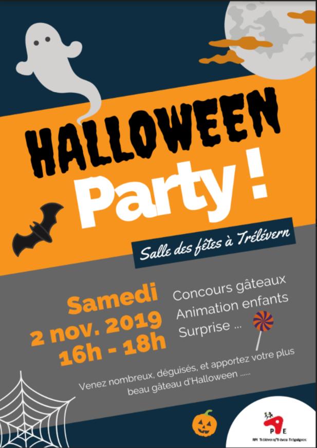 Un goûter d'Halloween organisé par les Parents d'élèves du RPI Trélévern-Trévou le samedi 2 novembre de 16h à 18h