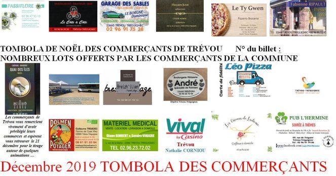 La tombola de Noël des commerçants de Trévou-Tréguignec du 1er au 21 décembre…