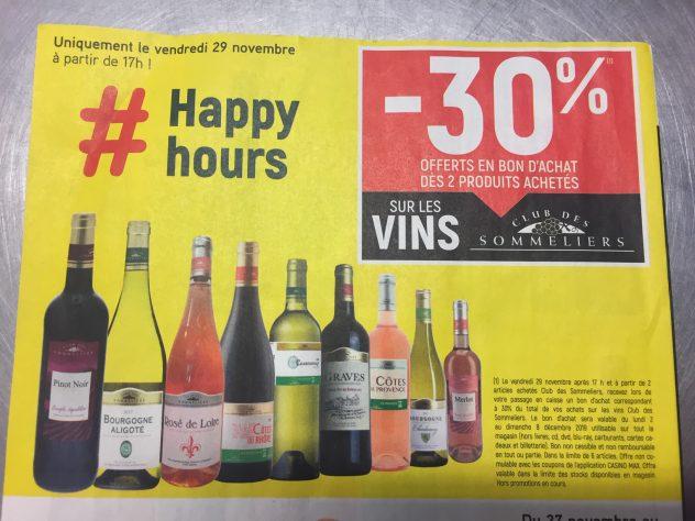 Black Friday c'est aussi à Trévou dans votre Vival, ce vendredi  à partir de 17h, 30% sur les vins (en bons d'achats)