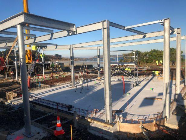 La construction du Pôle nautique de Trestel en Trévou-Tréguignec : les photos du  chantier