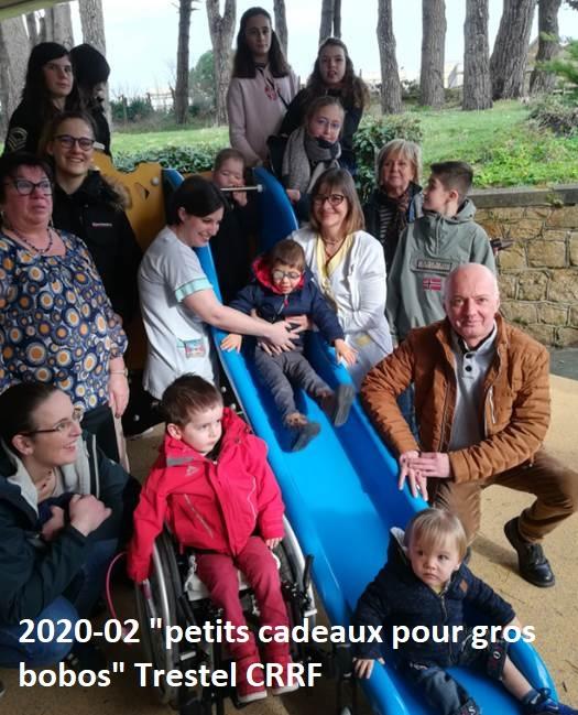"""""""Petits cadeaux pour gros bobos"""" gâtent les enfants du CRRF  de Trestel en Trévou"""