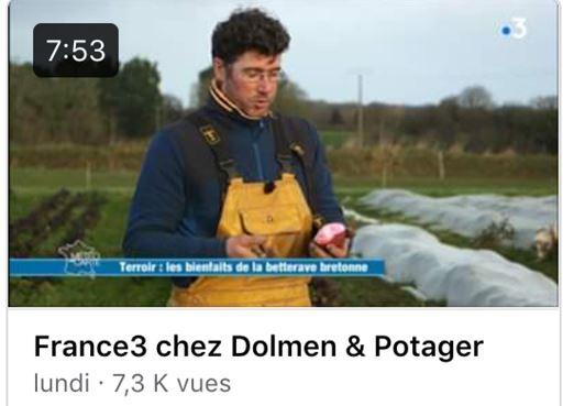 La ferme Dolmen & Potager de Trévou sur France3. Joli reportage à visionner