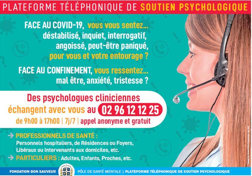 Un soutien psychologique par téléphone pour les personnes qui en éprouvent le besoin en cette période de confinement