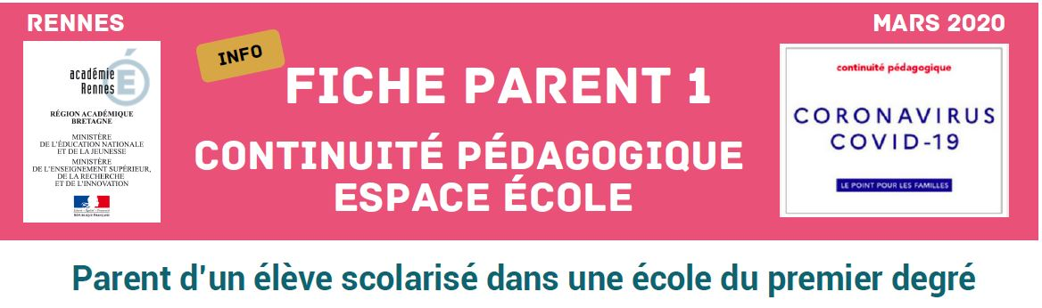 infos de l'Inspection d'Académie aux parents d'enfants scolarisés dans le 1er degré