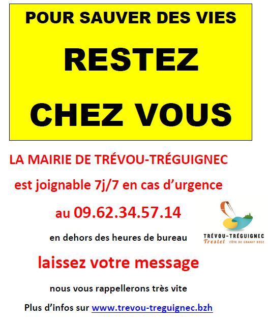 La mairie propose un téléphone avec messagerie  à appeler en cas de besoin notamment pour les personnes isolées: 09 62.34 57 14                                                  précisions ci-dessous