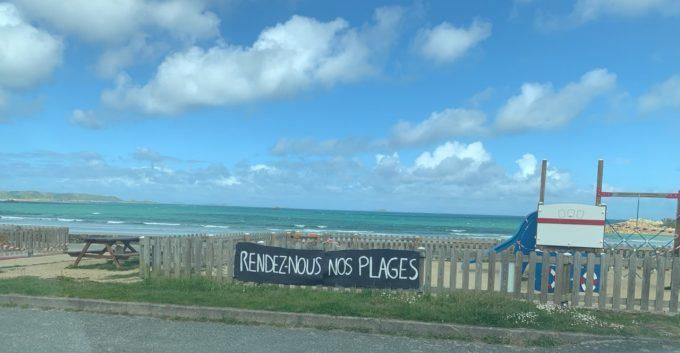 """""""Rendez-nous nos plages""""  Trévou-Tréguignec : des  banderoles à la calligraphie très soignée à Trestel et au Royau le 1er mai"""