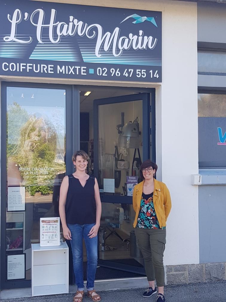 """1 an et 1/2 après son installation Julie, Coiffeuse à """"l'Hair Marin"""", annonce l'arrivée de Malaury pour la seconder et une ouverture 6 jours sur 7…"""