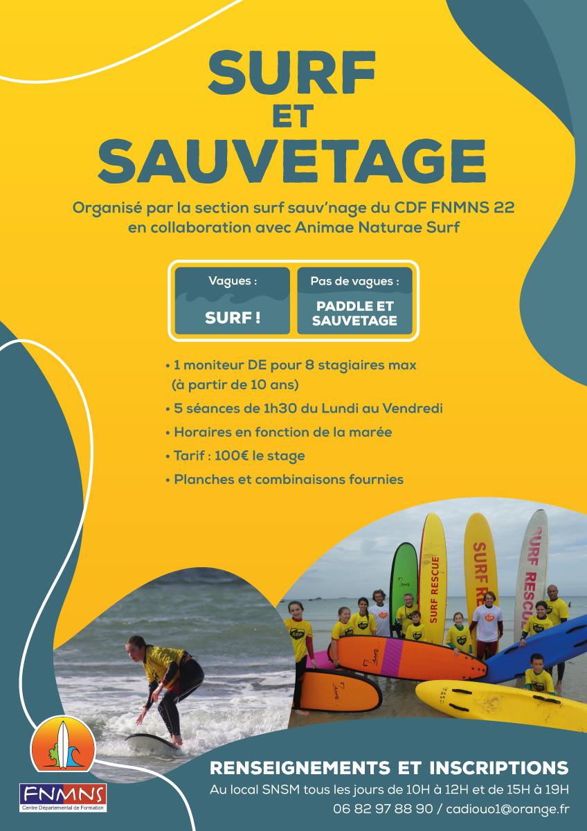 Des stages de surf, paddle, sauvetage à Trestel en Trévou-Tréguignec cet été.