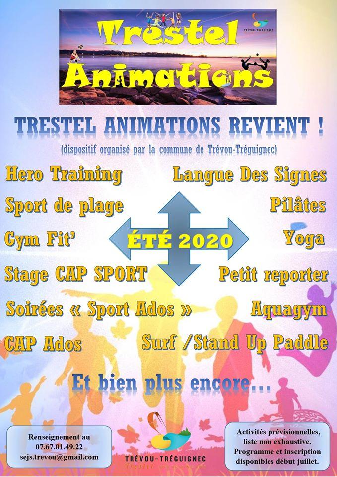 Trestel Animations été 2020 en préparation à Trévou-Tréguignec