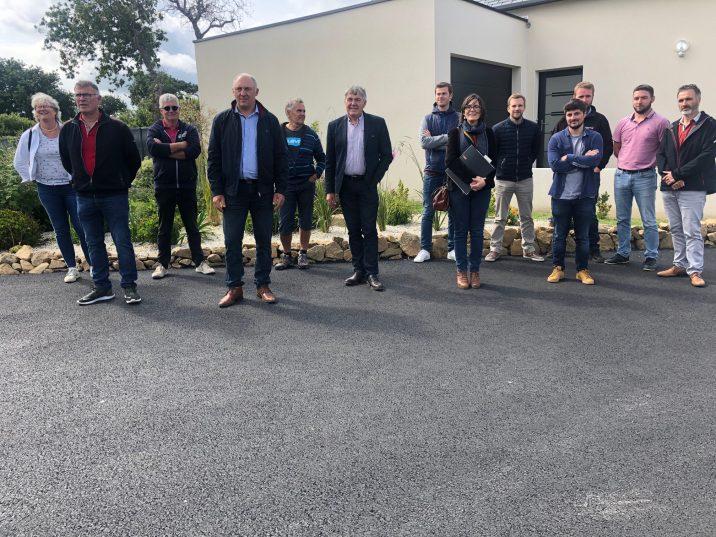 Parc Mézou : un quartier terminé … une réception avec les élus, le Président et la Directrice de la SEM et les entreprises qui y ont  travaillé.. (photos)