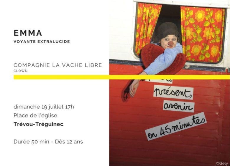 Le CARRÉ MAGIQUE pour un été magique à Trévou-Tréguignec le dimanche 19 juillet à 17h avec EMMA la Clown (C'est gratuit mais il est vivement conseillé de réserver)