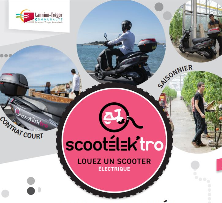 Envie de tester un Scooter électrique ?  désormais il est possible de louer des Scootélecktro sur notre territoire avec LTC …