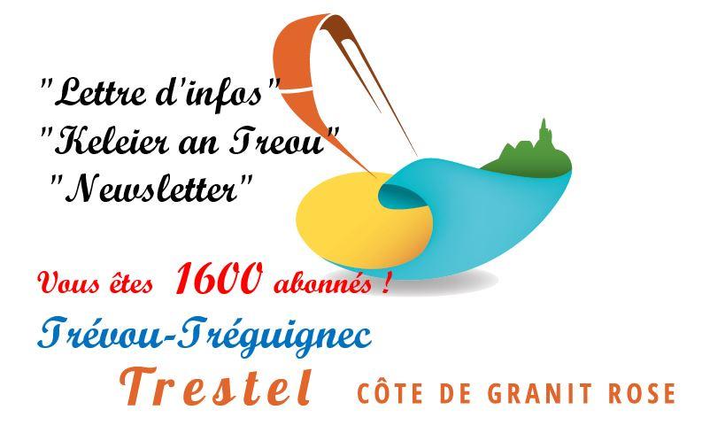 Vous êtes plus de 1600 abonnés à la Newsletter de Trévou-Tréguignec.