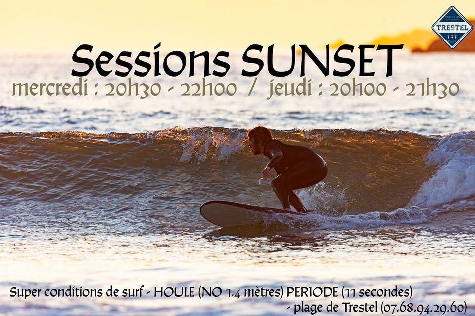 Cours de surf en soirée ce mercredi et ce jeudi à Trestel