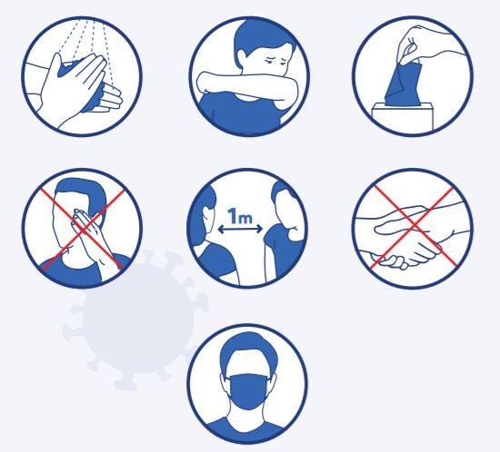 """Le Ministère de l'Éducation Nationale nous transmet quelques recommandations sanitaires """"COVID-19"""" pour la rentrée scolaire. Trévou-T"""