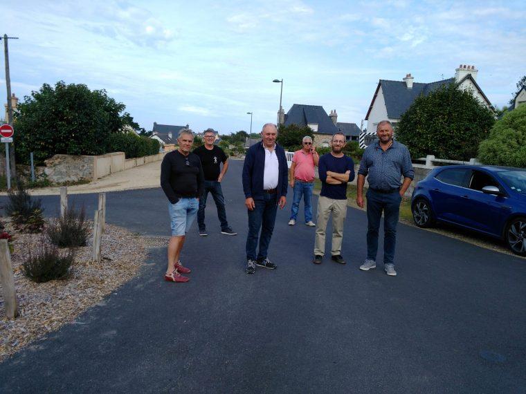 Les élus ont réceptionné la rue de St Guénolé