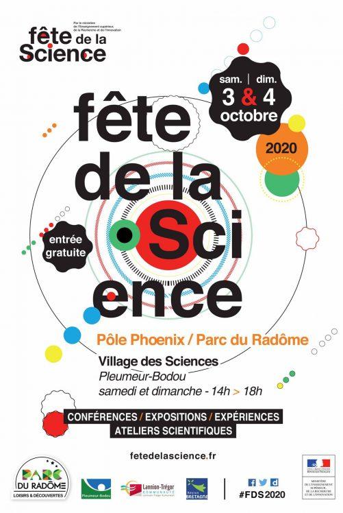 """La Fête de la Science au parc du Radôme et au Pôle Phoenix à Pleumeur Bodou  les 2, 3 et 4 octobre … un sacré programme pour tous, """"les p'tits débrouillards"""", la LPO …. ."""