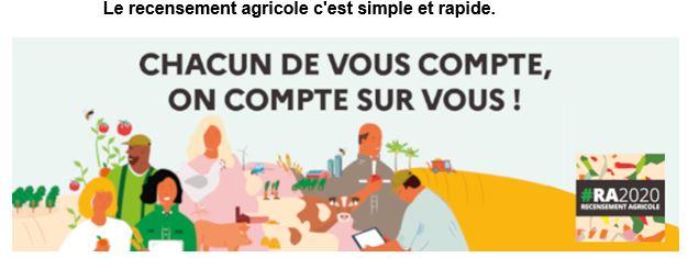 Le recensement agricole 2020,  c'est parti ! et ça se passe une fois tous les 10 ans… Vous êtes concernés ? merci d'y répondre